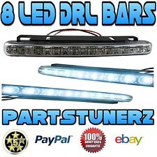 PONTAIC STRAIGHT SHAPE 8 SMD LED DRL DAYTIME RUNNING LIGHTS BAR FOG LIGHT KIT