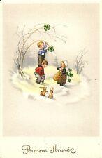 CPA BONNE ANNEE 1950 Ancienne carte de voeux NEUF N°1