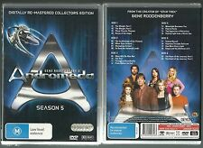 ANDROMEDA SEASON 5 BY GENE RODDENBERRY DIGITALLY REMASTERED GREAT NEW 6 DVD SET