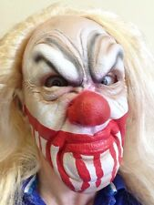 Bloody Face Clown Mask Wig Halloween Horror Latex Scary Penny Fancy  Party Masks