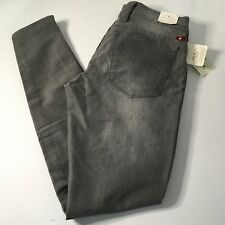 NEW Lucky Brand Women's Charlie Super Skinny Triple Zipper Moto Gray Jeans 2/26