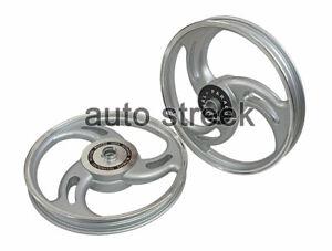 Royal Enfield Bullet 500cc Parado Front & Rear 3 Spoke Silver Alloy Wheel Rims
