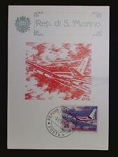 SAN MARINO MK 1963 FLUGZEUGE AVIATION MAXIMUMKARTE MAXIMUM CARD MC CM c8423