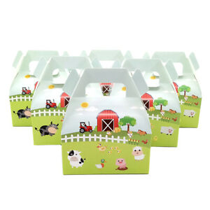 6pcs Farm Animals Theme Birthday Party Decoration Candy Box for Kid Party Supply