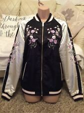 *F&F Ladies Black & Cream Floral Embroidered Jacket Size 16 BNWT £29*
