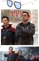 Tony Stark Sunglasses Men Square Metal Avengers Iron Man Sun Glasses Eyewear Hot