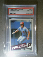 MIKE SCHMIDT 1985 Topps Tiffany #500 Vintage Graded Card PSA 8 PHILLIES