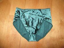 New listing Vintage Vassarette Green Shapewear Brief Panties Second Skin Satin M