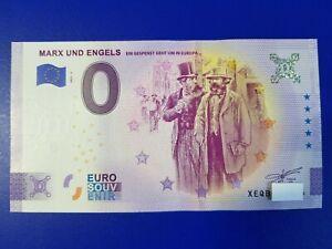 """0 Euro Schein """"MARX UND ENGELS"""" 2021-3 Anniversary"""