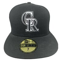 New Era MLB 59Fifty COLORADO ROCKIES Embroidered 5950 Fitted Cap Hat 7