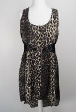 Miss Selfridge Leopard Animal Print Black Lace Midi Fish Tail Dress Sleeveless