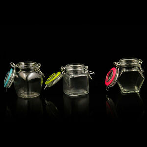Einmachglas Glas 90ml Vorratsglas  Weckgläser Bügelverschluß IDE6730