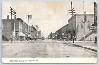 Streator Illinois~Main Street E~Boots~Anheuser Busch St Louis Beer~Stores~c1905