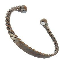 Magnetic Armband Copper Bangle Pain Relief Aid Bracelet Health Healing