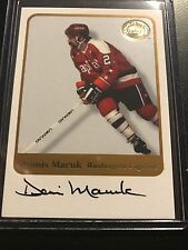 "2001-02 FLEER GREATS OF THE GAME DENNIS MARUK ""WASHINGTON CAPS"" AUTOGRAPH AUTO"