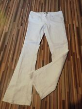 LADIES SIZE 8 R W30 SLOUCH WAIST L31 RIVER ISLAND WHITE STRETCH BOOTCUT JEANS
