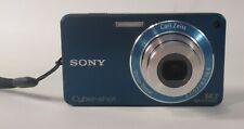 """Sony Cyber-shot W350 Digital Camera 14.1MP 2.7"""" 4x OZ 2x DZ Blue Fair Condition"""