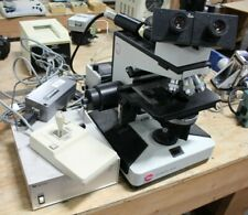 Leitz Diaplan Fluorescent Microscope With Controllers