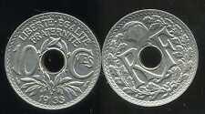 FRANCE  FRANCA  10 centimes  LINDAUER 1933   ( SUP )  ( bis )