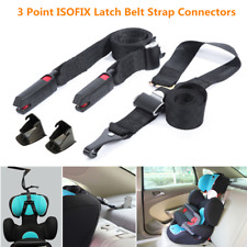 3 Point ISOFIX Latch Belt Strap Connectors w/Guide Groove For Safety Baby Seat