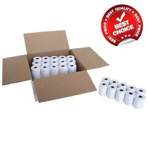 Box of 57x40 MM MACHINE TILL CREDIT CARD,PDQ THERMAL PAPER ROLLS (20 rolls Box)