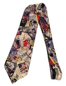 Vintage Team NFL Super Bowl Themed Mens 100% Silk Tie USA Made