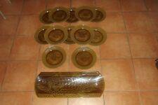 Service À Poisson Digoin Sarreguemines 12 Assiettes + 1 Plat Art Déco Art table