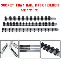 """3Pcs 1/2"""" 3/8"""" 1/4"""" Socket Stand Tray Rail Rack Holder Storage Organizer Shelf"""