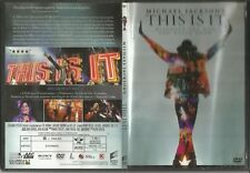 MICHAEL JACKSON 'S  THIS IS IT Discover the man you never knew-DVD REGION 2 PAL