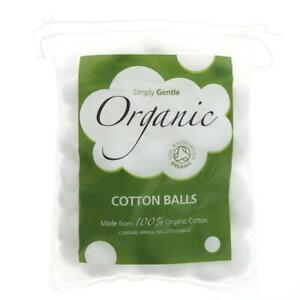 Simply Gentle Organic Cotton Wool Balls - Pack of 100 Balls WITH FREE P&P!