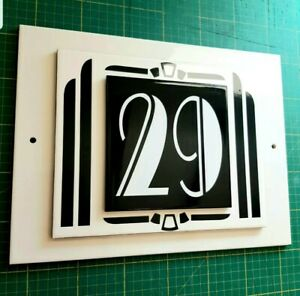 ART DECO LARGE 3D PERSONALISED HOUSE NUMBER SIGN CERAMIC SIGN ANY NUMBER