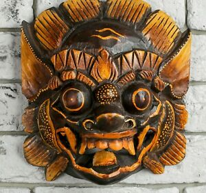 wooden albesia wall decor mural indonesia asia  8incn 20 cm