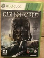 Dishonored - Microsoft Xbox 360 Game With Case Tested Working Complete