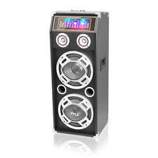 Pyle PSUFM1030P 1000 W Disco Jam 2-Way Passive DJ Speaker w/ Dual 10''Subwoofers