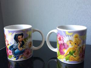 2x Coffee Tea Mug Movie Mug Disney Fairies Princess TINKERBELL Ceramic Cup 180ml