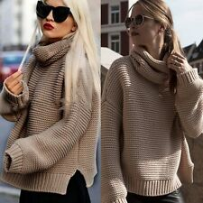 Fashion Women Casual Long Sleeve Knitted Sweater Jumper Pullover Tops Knitwear