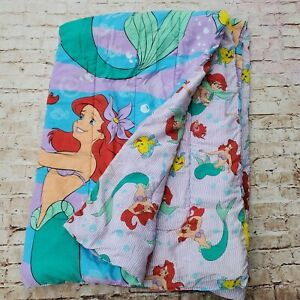 Walt Disney Twin Size Comforter Bedspread Ariel The Little Mermaid 60x841989 VTG