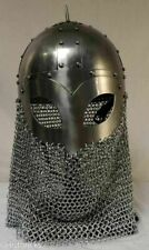 Aromer Viking Helmet with chainmail Medieval Knight Battle Armor Costume Helmet