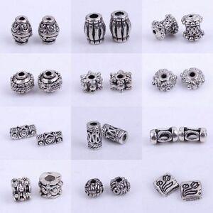 50/100pcs Tibetan Silver Metal Spacer Beads Jewellery Craft Findings