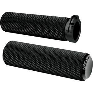 Arlen Ness Black Knurled Fusion Grips for 1982-2018 Harley Dual-Cable