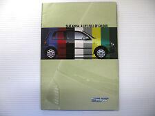 ORIGINAL 1999 SEAT AROSA CAR BROCHURE 1.4 PETROL & 1.7 DIESEL SALES LITERATURE