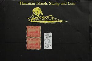 288 FLYING GOOSE HAWAII REPUBLIC PAIR 1894 UNUSED SCOTT#81