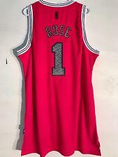 Adidas Swingman NBA Jersey CHICAGO Bulls Derrick Rose Red Reverse Static sz XL