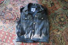 Fox Creek leather motorcycle vest 42