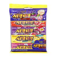 Korean Chewy Candy CROWN SAECOM DALCOM 116g(Strawberry Grape Lemonade Peach)