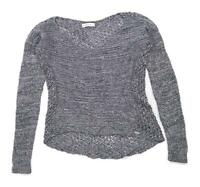 Abercrombie & Fitch Womens Size M Cotton Blend Grey Jumper (Regular)