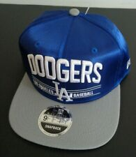 LOS ANGELES DODGERS New Era 9FIFTY Snapback SATIN High Crown Baseball Cap Hat