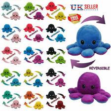 Double-Sided Flip Reversible Octopus Plush Toys Animals Doll Kids Xmas Gift UK
