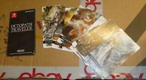 Nintendo Switch Octopath Traveler  Set of 8  Art Card Envleope  pre order bonus