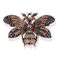 Little Bee Insect Brooch Pin Rhinestone Crystal Brooch Pins Jewelry Gift Chic J&